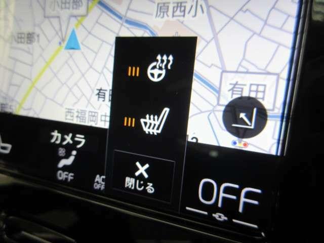 フロントシートには、厳寒の地、北欧スウェーデン発祥のブランドならではのアイテムであるシートヒーターに加え、ステアリングホイール・ヒーターも装備しています。