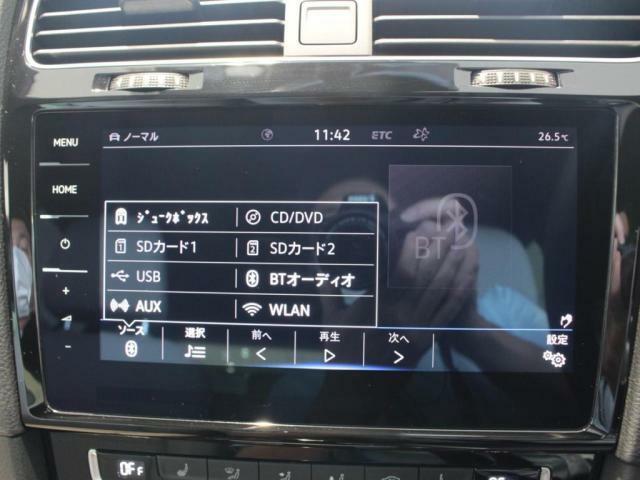 CD、DVD、ジュークボックス、SDカード、フルセグTV対応。Bluetooth Audioなど、各種機能をお楽しみいただけます!