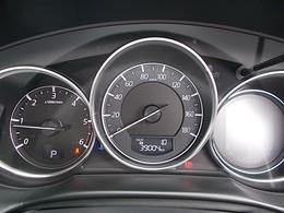 大型で走行中でも視認性の良いスピードメーターが装備されてます。