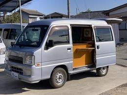 スバル サンバー 660 トランスポーター 4WD キッチンカー 移動販売車 保健所実績有