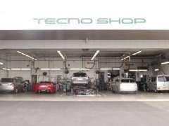 テクノショップ併設です!納車前の点検整備の他、ご購入後のアフターもお任せください。