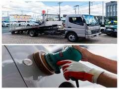 購入後の車検や点検・整備・メンテナンスもご安心ください。任せて安心のアフターサービス体制でお待ちしております!!