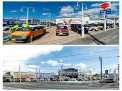 国道152号、六間通りに面した展示場です。東名浜松ICから車で15分、電車でご来店のお客様は最寄り駅まで送迎いたします!