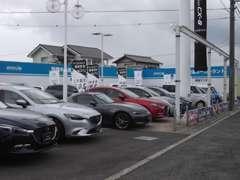 中古車はもちろん、新車もとりそろえおります。お気軽に東海マツダ鈴鹿中央通店にお越しください。