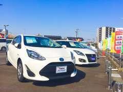軽自動車からミニバン・商用車まで幅広い車種を常時約20台を展示しております。展示車以外でもお探しできます!