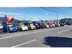 軽自動車からセダンまで、幅広くお客様のニーズにお応えできます!広々展示場で納得のいくまでお車をご覧になれます