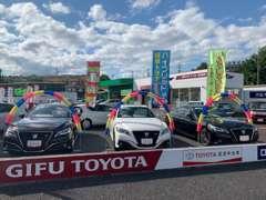 広々とした展示スペースには、軽からセダン、ミニバン、RVまで常時約70台を展示。トヨタ車以外も取り扱っております。