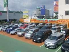 軽自動車・コンパクト車も多く展示しています。もちろん、ミニバン・セダンも豊富にございます。納得いくまでよーくご覧ください