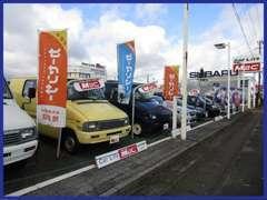 常時50台以上展示!軽自動車~普通車まで。日々のエンジンオイル交換、車検、修理、保険、事故対応。何でもお任せくださいね^^