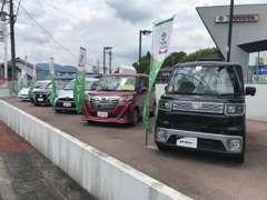 新車店舗ですが、U-Carも取り揃えております。岐阜トヨタ全店舗からお好みの1台をお探し致しますので、お声かけください!