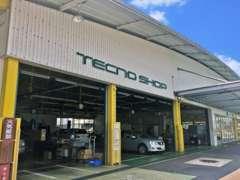 新車店舗とサービス工場も併設しております。車検・点検・オイル交換などアフターサービスもバッチリです。