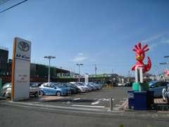 音羽蒲郡ICからお車で豊橋方面に30分 国道1号線沿いあります。新車・サービスも併設。購入後のアフターケアもお任せ下さい。
