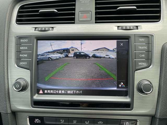 バックカメラがついているので、駐車時・後退時も安心です。