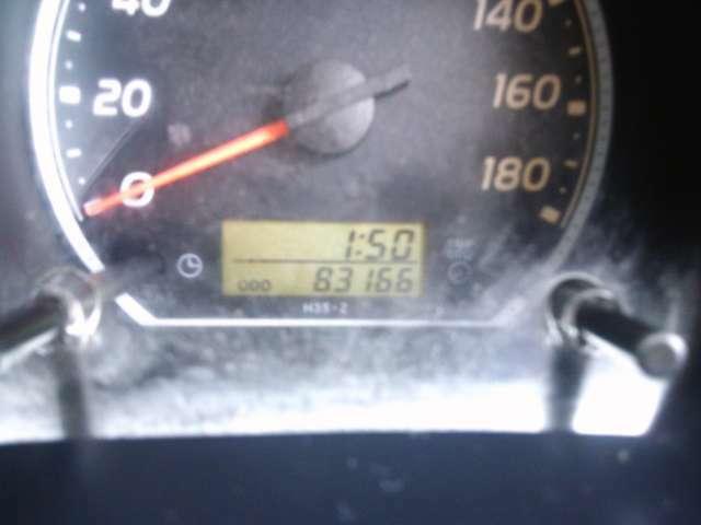 走行83.000KMです!