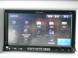 多彩なオーディオソース!CDをはじめ、TVやBLUETOOTH、USBポートも装備!フルセグも対応しています!