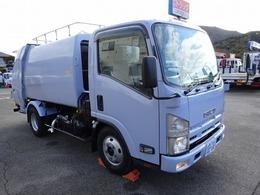 いすゞ エルフ プレスパッカー 5.3m3 極東 2.45t積み 連続積込 汚水タンク付 セミロング