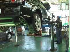 サービス工場完備!マツダ全国トップクラスの整備士が整備します