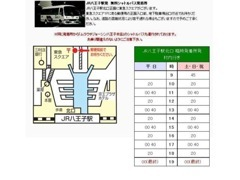 JR八王子駅北口からのアクセスです☆無料シャトルバスで約15分