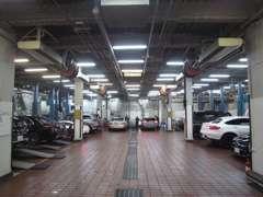 首都圏最大級の整備工場を併設、アフターフォローも安心です!