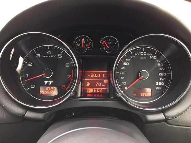 スピードメーターは280km計!ベタ踏み時、5千回転まで急速に回るオドメーターは必見です!