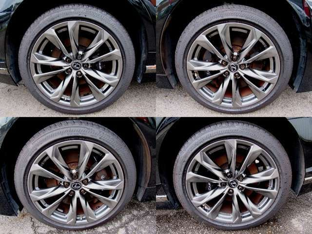 Fスポーツ専用純正20インチアルミ、タイヤの画像になります!!タイヤの溝は8部山程度御座います!!