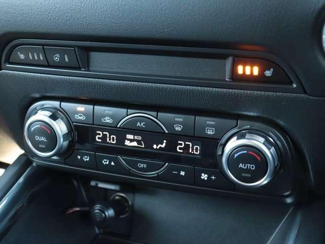 エアコン操作はダイヤルで目線を外さず操作!シートヒーターやステアリングヒーターも装備されておりますので、冬の寒い時期でも快適☆