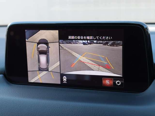 360°モニターが標準装備されておりますので、細い道や狭い駐車場でもラクラク♪ 視認性もバッチリです。
