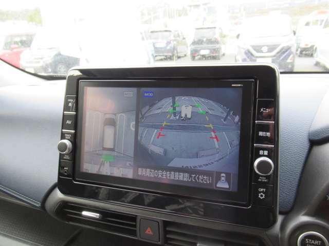 アラウンドビューモニター(全方位)を装備!狭い道や駐車も安心です!