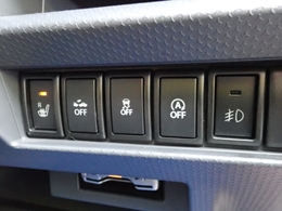 衝突被害軽減ブレーキや車線逸脱警報システムなどの安全装備もついてます。寒い時期に重宝するシートヒーター付きなのも嬉しいですね。