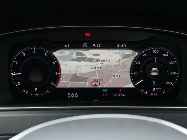 液晶メーターは見えやすい仕様になっています。VWはメーターにもこだわりを持っています。