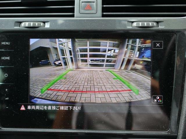 バックカメラの映像は大画面で鮮明に確認することができます