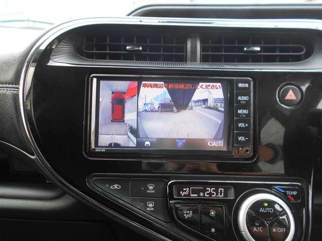 純正SDナビ(NSCN-W68)を装着しています。地デジ(ワンセグ)やブルートゥース接続も可能です。パノラマカメラも装備していますので車庫入れも楽々です。画像はフロントカメラの画像です。