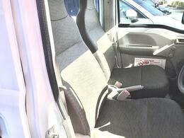 シート表皮がビニールレザー!汚れても拭えばしっかりと汚れを落とすことができます。作業着等で乗っても気になりませんね。