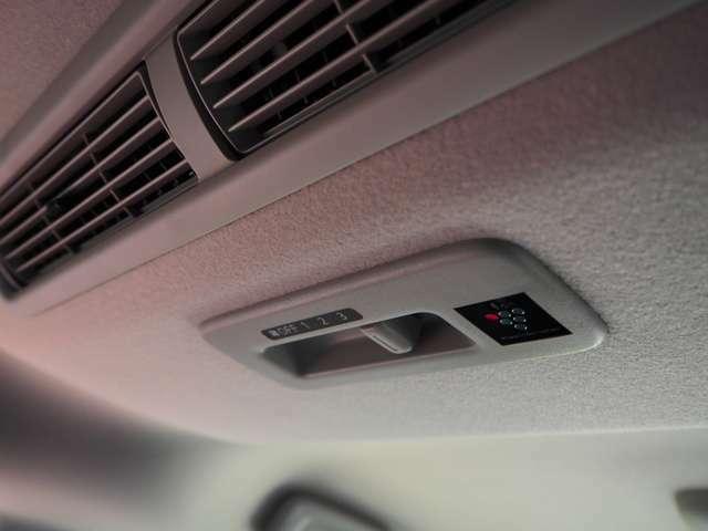 軽自動車には限られた車にしかない、ファンがあるので後ろに乗っても快適です。プラズマクラスターも付いていてウイルスを減らしてくれます。