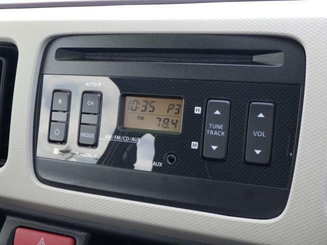 AM/FMラジオ付きCDステレオ装備してます
