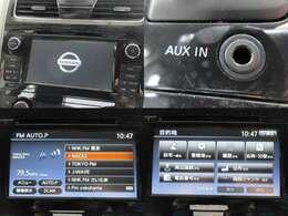 お出掛けに嬉しい、フルセグ対応純正SDナビ付です♪DVDビデオ再生機能・音楽録音機能・AUX/USB/Bluetooth接続機能も装備しております♪
