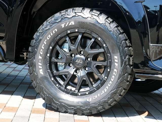 ナイトロデリンジャー17インチホイールにBFグッドリッチ製のタイヤをインストール☆彡