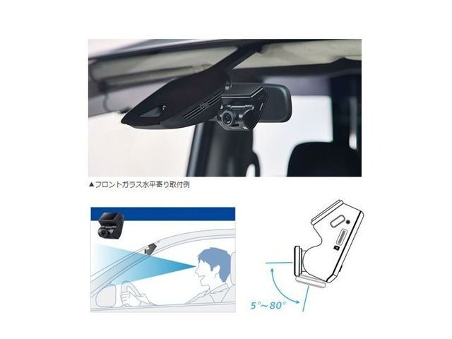 Bプラン画像:昨今、非常に需要が伸びてきましたドライブレコーダー。不意の事故もきちっと記録してくれます。GPS&Gセンサー搭載。クルマへの衝撃や振動で録画が始まります。駐車監視システム搭載。