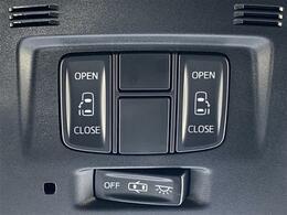 【両側電動スライドドア】小さなお子様でもボタン一つで楽々乗り降り出来ます!両手に荷物を抱えていてもボタンを押せば自動で開きますので、ご家族でのお買い物等にとっても便利な人気装備です!