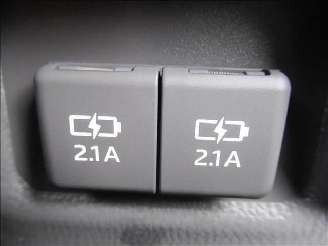 USB充電ポート装備。
