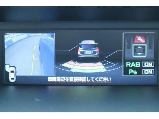 後進時、左サイドカメラと後方センサーが表示されます