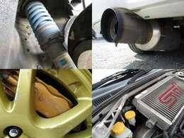 車高調 社外マフラー ブレンボキャリパー タワーバー装備