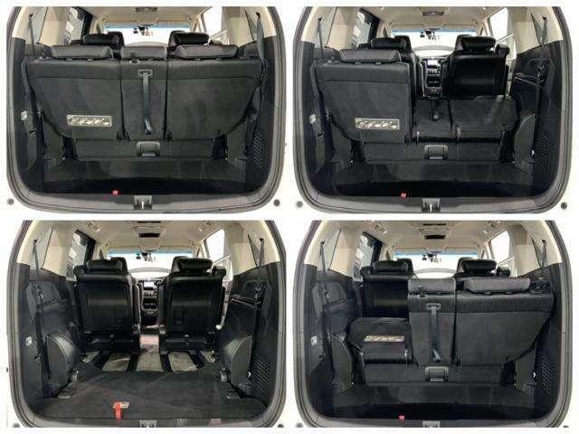 ラゲッジスペースです。3列目シートを格納すれば荷室を更に広く使えます。