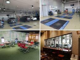 大型の認証工場を併設しており、車検から日常点検まで安心してお任せいただける環境を整えております。待合スペースでは、愛車の整備風景をご覧いただく事も可能です♪