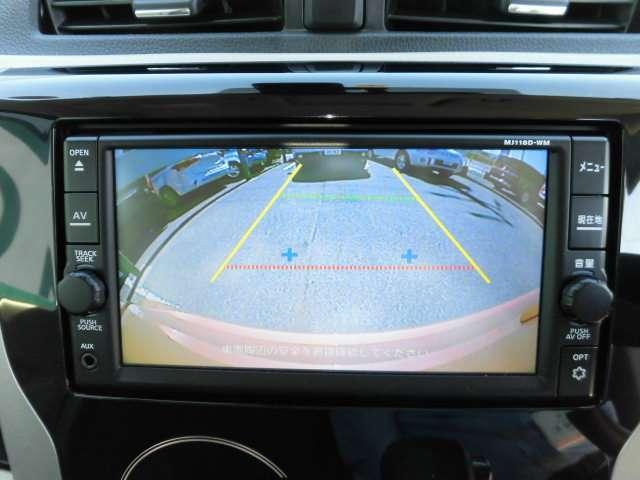 ガイドライン付きバックカメラですので駐車も楽々です!