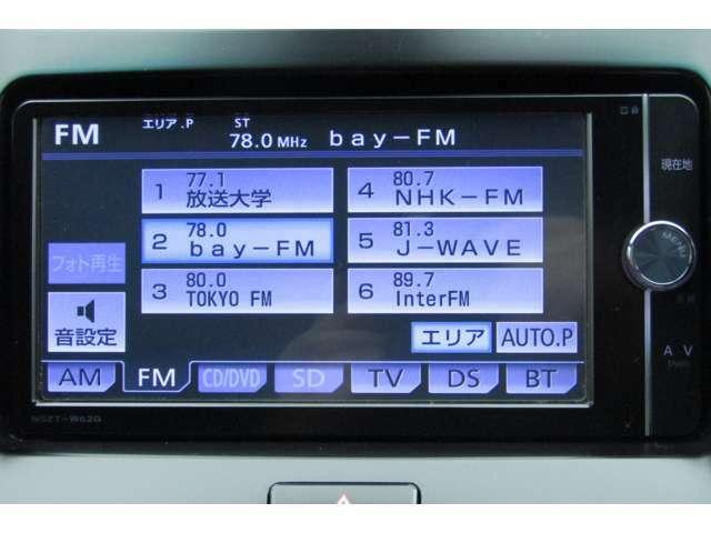 機能満載のオーディオシステムです。画質の鮮明なフルセグでTV視聴も可能です♪