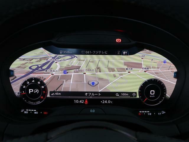バーチャルコックピット装着車です。目線の移動が少なくステアリングのマルチファンクションで操作できるので安全性の向上にも役立ちます。