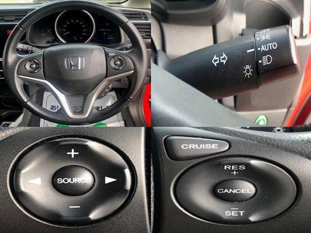 定速走行可能なクルーズコントロールついています。走行中にスイッチをセットするだけで、アクセルペダルを踏まずに定速で走行。高速走行時のストレス軽減と、アクセル操作を減らし燃費向上にも役立ちます。