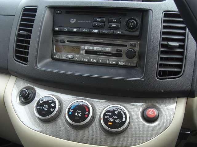 純正CD/MDデッキにDVDナビオートエアコンです
