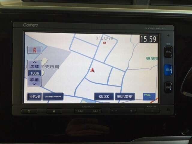 お出かけに便利な高性能純正メモリーナビ【VXM-174CSi】。 しかも Honda 独自の インターナビ でリアルタイムな情報が入ります。